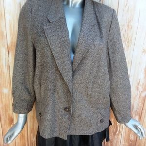 SALE 6X$25 XL Brown Jacket/Coat Single Breasted